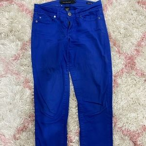 Blue Calvin Klein ankle pants
